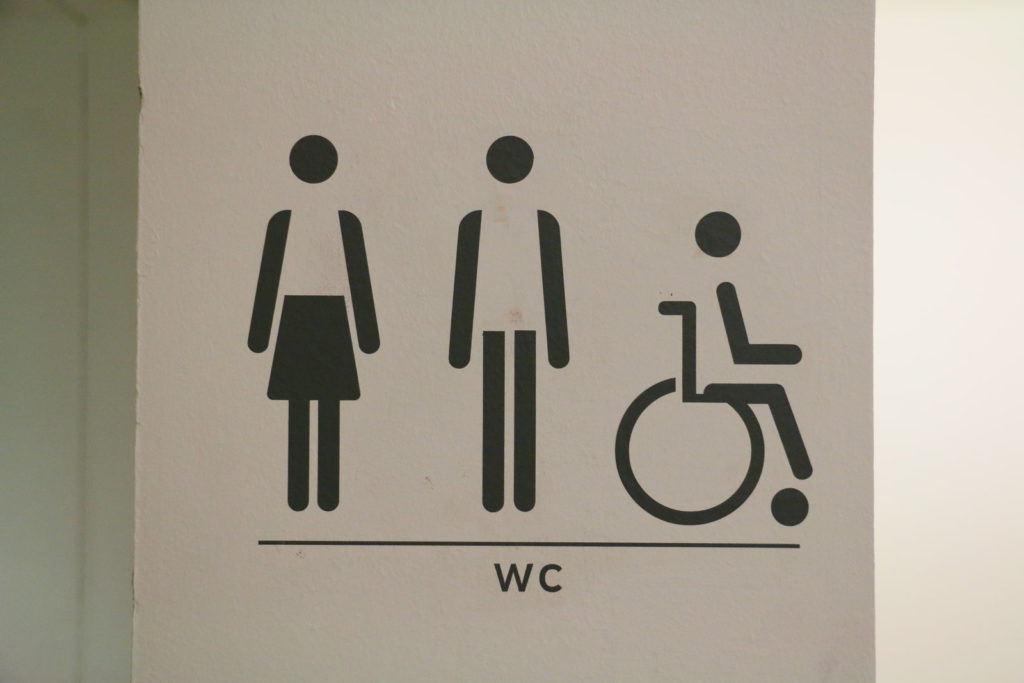 Toilet Sign in Centre Pompidou in Paris