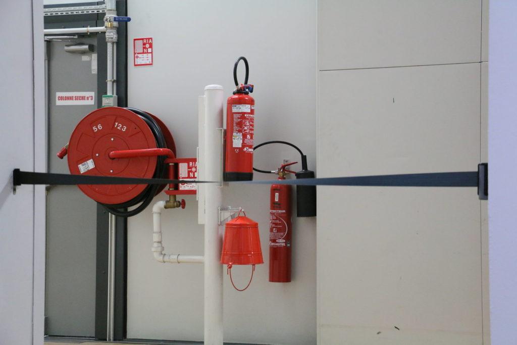 Fire Distinguishers in Centre Pompidou Paris