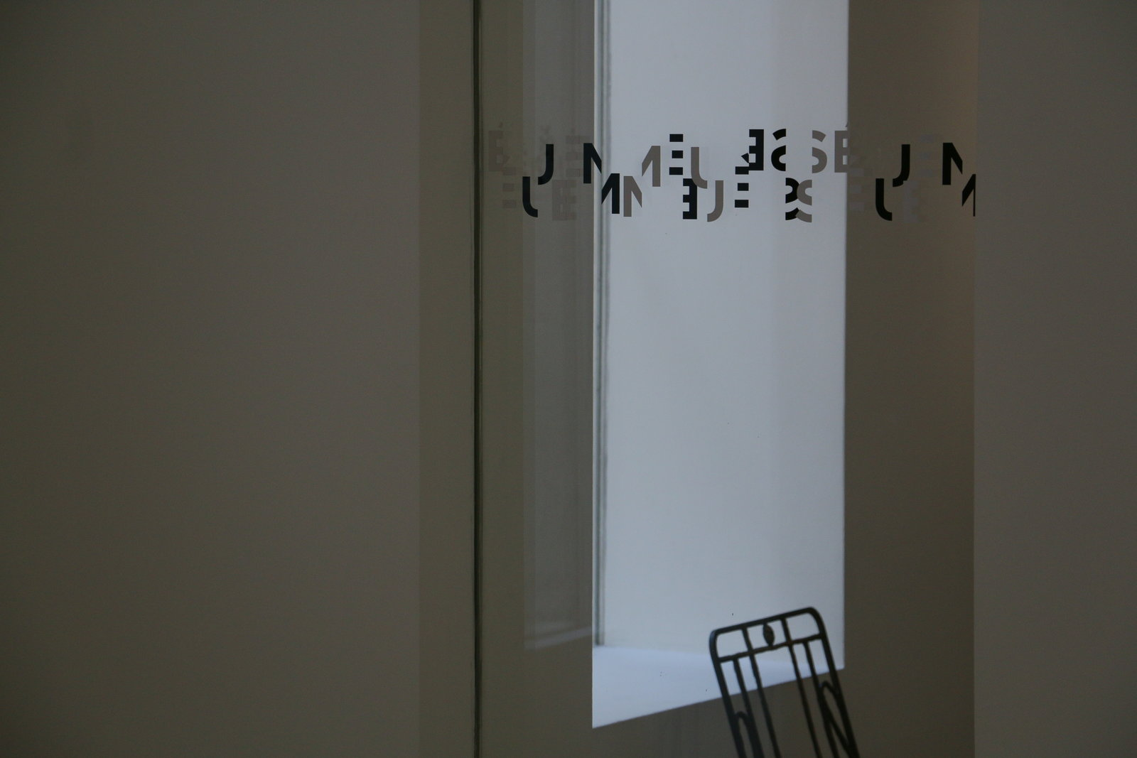 Unreadable Letters in Musee Picasso in Paris