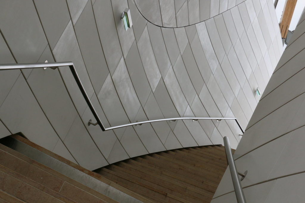 Stairway in Louis Vuitton Foundation Paris