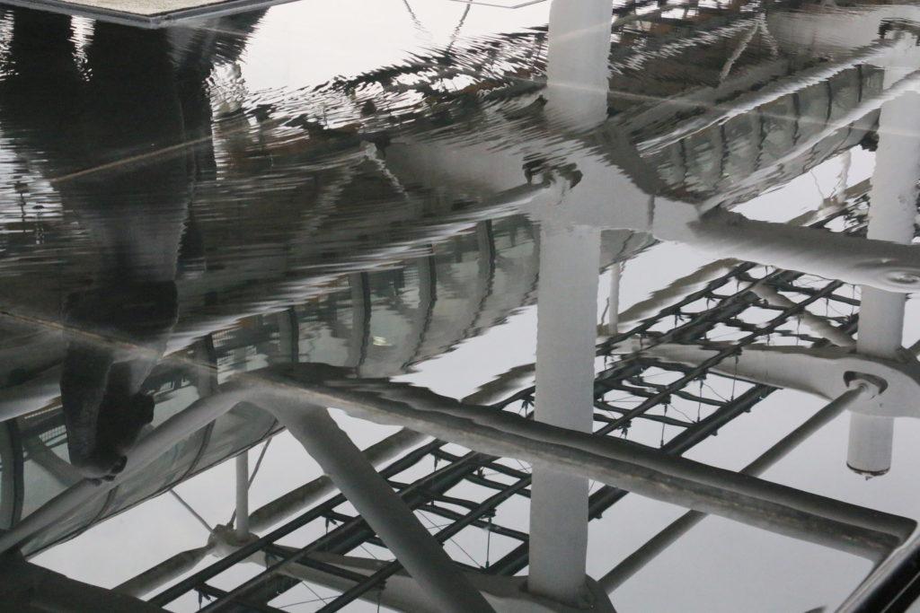Water in Centre Pompidou in Paris