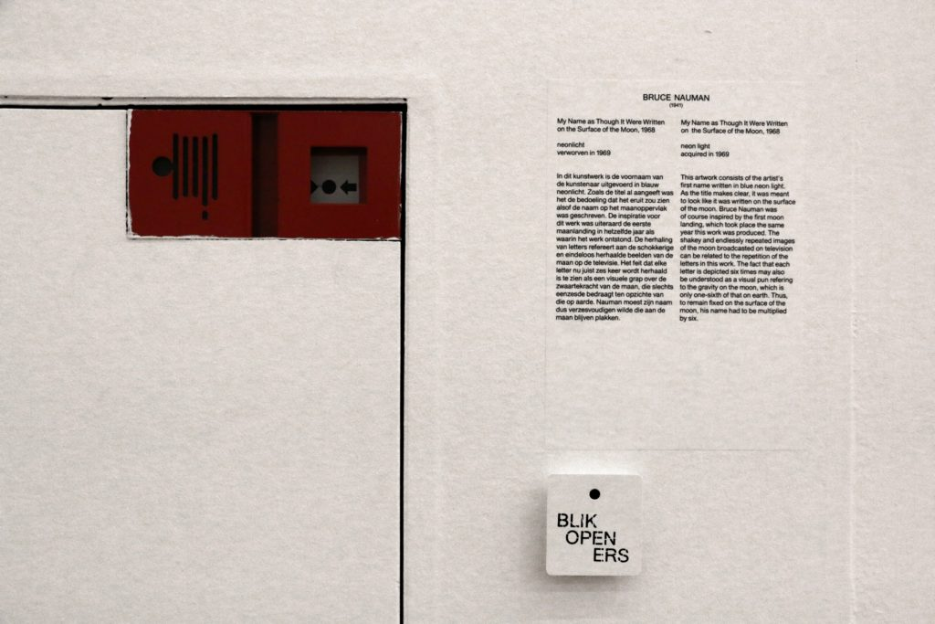 This is not Bruce Naumans art in Stedelijk Museum Amsterdam