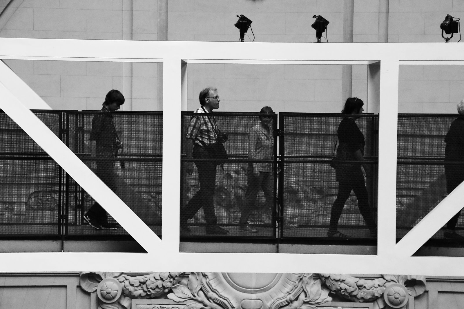 Passengers in Musee d'Orsay in Paris