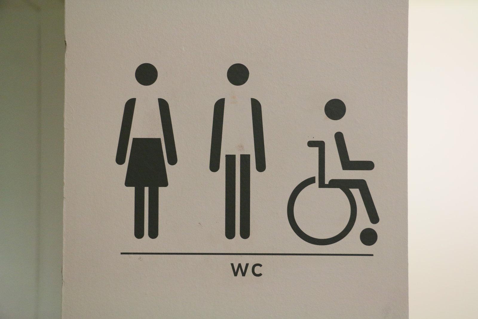 Toilet Sign in Centre Pompidou in Paris
