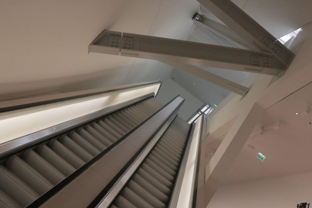 Escalator in Louis Vuitton Foundation Paris