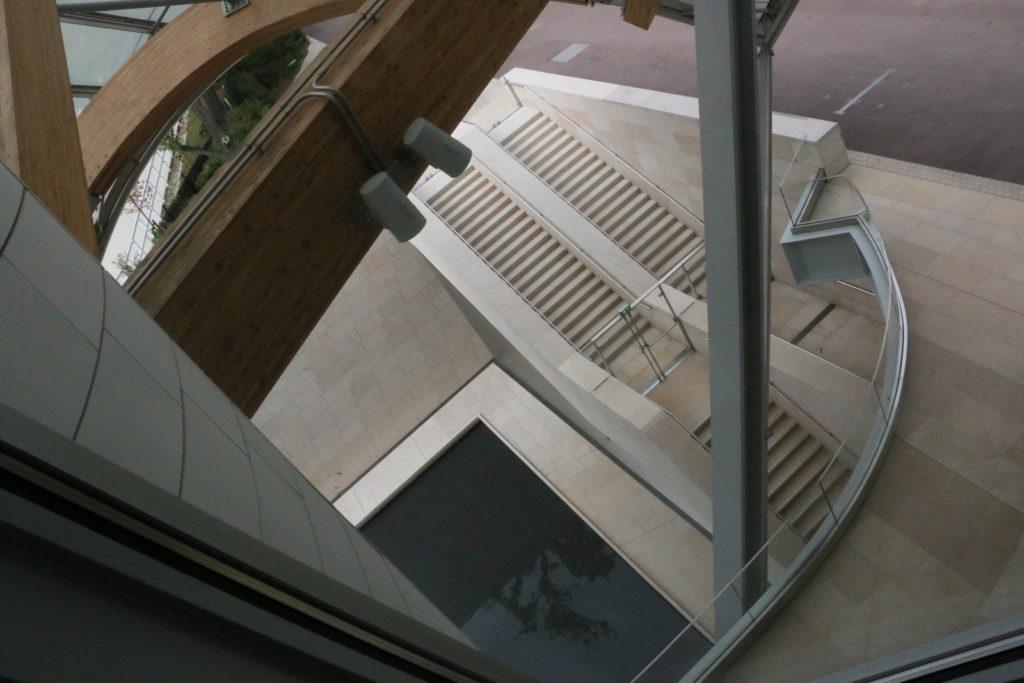 Stairway in Louis Vuitton Foundation Paris