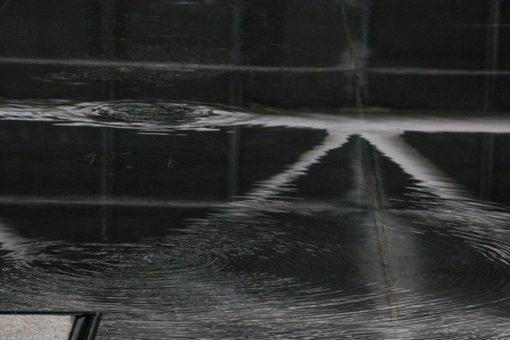 Reflection in the Water in Centre Pompidou Paris