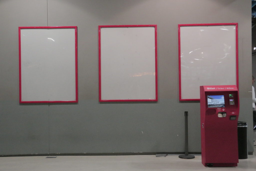 Empty Posters in Centre Pompidou in Paris