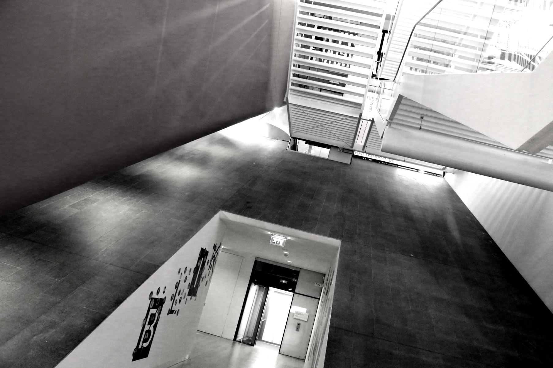 Stairways in Stedelijk Museum Amsterdam
